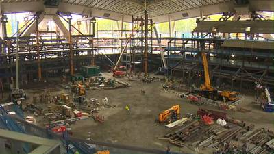 Inside the construction zone as Climate Pledge Arena takes shape