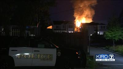 Armed man barricades himself in Renton home, fires shot at officers before starting fire, police say