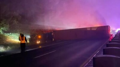 VIDEO: Collision closes down I-90 between North Bend and Easton