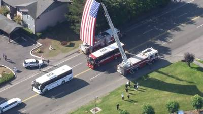 PHOTOS: Procession for fallen WSP Trooper Detective Eric T. Gunderson