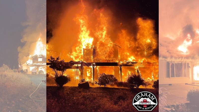 Home destroyed in Graham fire