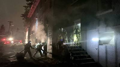 Vacant building fire in Tacoma