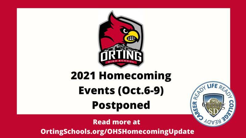 Orting High School homecoming postponed
