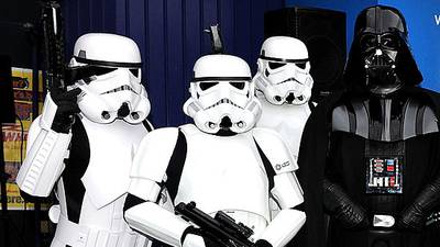 Final force send-off: Darth Vader, stormtroopers become pallbearers for woman's funeral