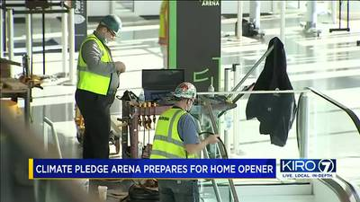 VIDEO: Finishing touches being put on Climate Pledge Arena ahead of home opener