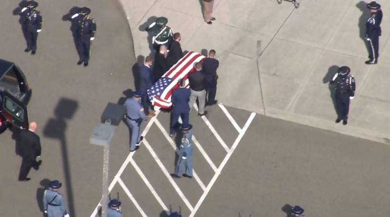 Procession for fallen WSP Trooper Detective Eric T. Gunderson