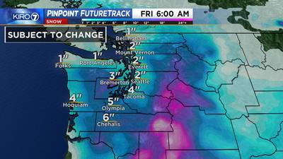 Chances for heavy snow increasing in Western Washington