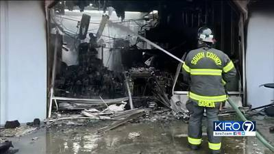 3-alarm fire in Edmonds strip mall being investigated as arson
