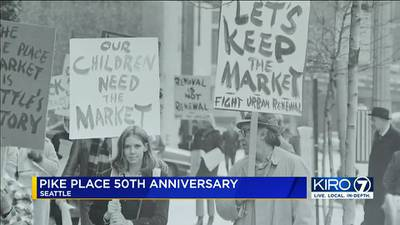 VIDEO: Pike Place Market celebrating 50 years since it was saved from demolition