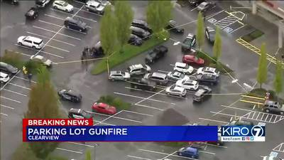 VIDEO: Officer fires at suspect in Snohomish County parking lot