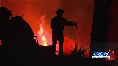 VIDEO: Firefighters gaining upper hand on wildfire near Redding