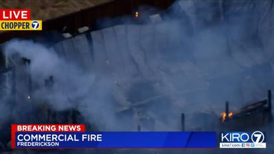 Fire destroys commercial building in Frederickson