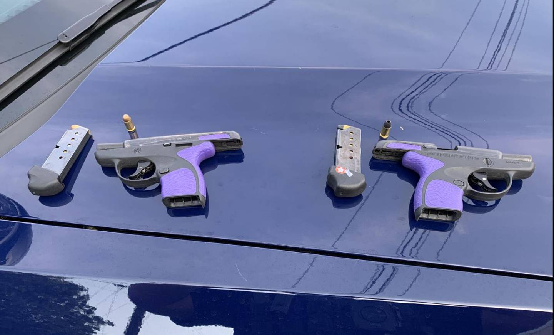 Guns seized in road rage shooting