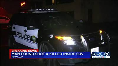 VIDEO: Man found dead in SUV after Puyallup shooting