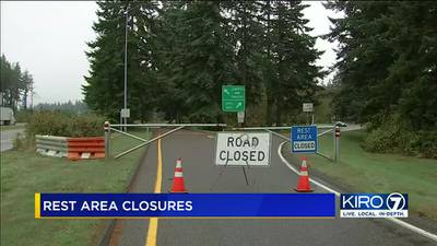 VIDEO: WSDOT announces rest stop closures due to uptick in crime