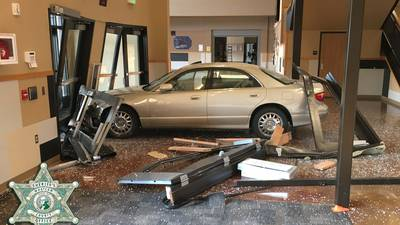 Deputies: Naked woman arrested after crashing car into high school in Bellingham