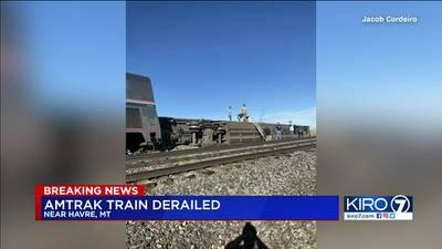 VIDEO: Amtrak train derails in Montana