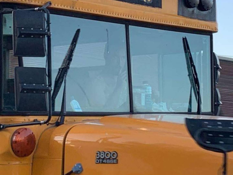 Man wearing yellow dress accused of stealing school bus