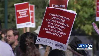 VIDEO: Hundreds of carpenters held rally, speaking against union leaders