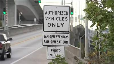 VIDEO: Police patrol Lower West Seattle Bridge after license plate tampering