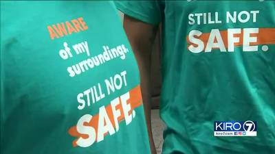 Dozens march for safety at King County Courthouse
