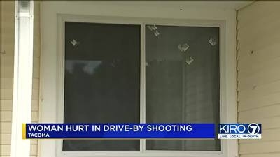 Woman inside Tacoma home hit in drive-by shooting