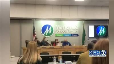 VIDEO:  Marysville School District board meeting turns explosive