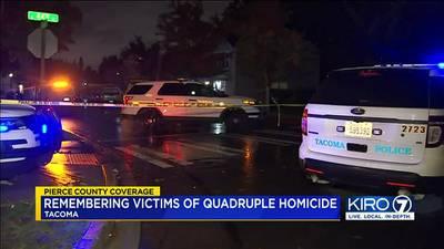 VIDEO: Remembering victims of Tacoma quadruple homicide