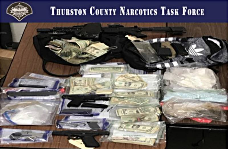 Seizure of drugs, guns and cash in Thurston County