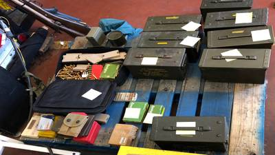 Boxes filled with ammunition, incendiary devices found in stolen car