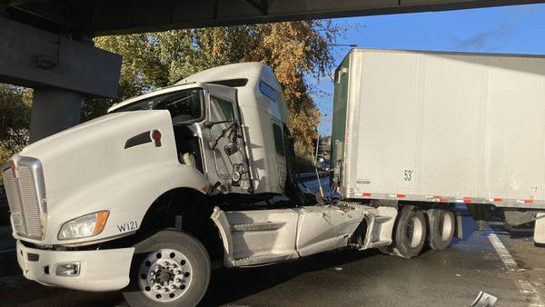 Semi-truck collision blocks part of I-5 south of Lynnwood