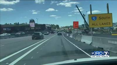 Collisions up 33% on I-5 near construction zone in Tacoma