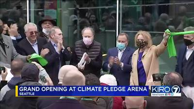 VIDEO: Ceremony held to mark opening of Climate Pledge Arena