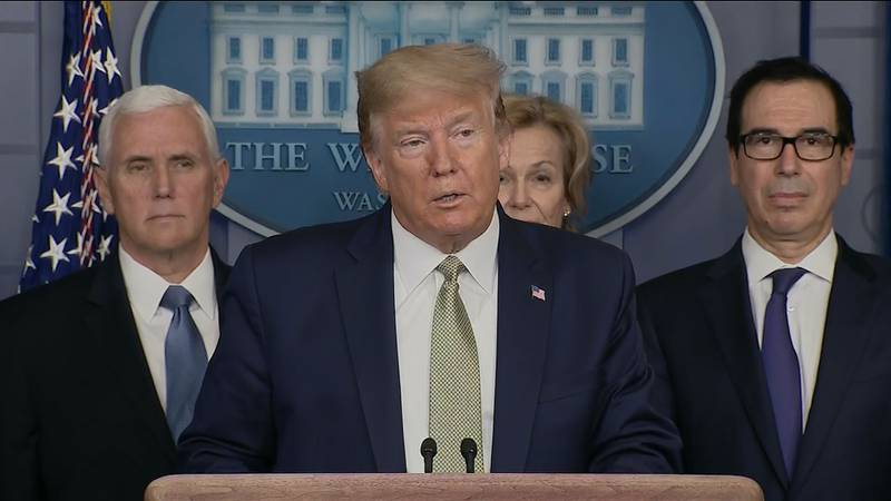 President Trump at a Coronavirus Task Force briefing 3-17-20